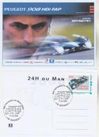 Timbre Personnalisé MonTimbramoi PEUGEOT 908 HDI Vainqueur 24 Heures Du Mans 2009 Sur Carte Postale Maximum ( N° 2 ) - Sellos Personalizados (MonTimbraMoi)