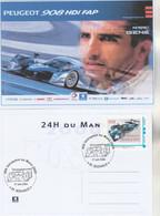 Timbre Personnalisé MonTimbramoi PEUGEOT 908 HDI Vainqueur 24 Heures Du Mans 2009 Sur Carte Postale Maximum M Gené - Sellos Personalizados (MonTimbraMoi)