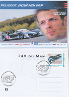 Timbre Personnalisé MonTimbramoi PEUGEOT 908 HDI Vainqueur 24 Heures Du Mans 2009 Sur Carte Postale Maximum A Wurz - Sellos Personalizados (MonTimbraMoi)