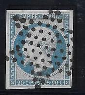 France N°14 - Oblitéré étoile - TB - 1853-1860 Napoleon III