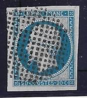 France N°14 - Oblitéré Cercle De Points - TB - 1853-1860 Napoleon III