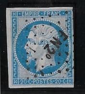 France N°14 - Oblitéré FN2° - TB - 1853-1860 Napoleon III