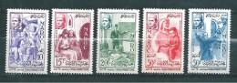 Timbres Du Maroc  De 1956  N°369 A 373  Complet  Neufs** - Maroc (1956-...)