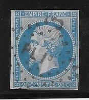 France N°14 - Oblitéré PL1° - TB - 1853-1860 Napoleon III