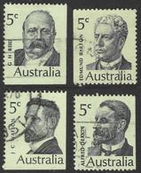 Australia. 1969 Famous Australians (2nd Series). Prime Ministers. Used Complete Set. SG 446-449 - 1966-79 Elizabeth II