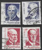 Australia. 1972 Famous Australians (4th Series). Prime Ministers. Used Complete Set. SG 505-508 - 1966-79 Elizabeth II