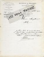76 - Seine-maritime - BOLBEC - Facture LIBERGE - Menuiserie, Tournage Sur Bois - 1908 - REF 163B - 1900 – 1949