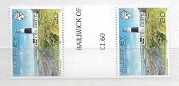 1989 MNH Alderney Gutter Pairs, Postfris** - Alderney