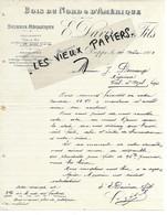 76 - Seine-maritime - DIEPPE - Facture DAVIRON - Scierie, Bois Du Nord Et D'Amérique - 1900 - REF 163B - 1900 – 1949