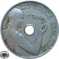 LaZooRo: Spain 25 Centimos 1934 VF / XF - [ 2] 1931-1939 : Republic