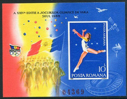 ROMANIA 1988 Olympic Games, Seoul Block MNH/**.  Michel Block 247 - Blocks & Kleinbögen