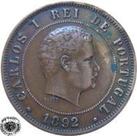 LaZooRo: Portugal 20 Reis 1892 XF - Portugal