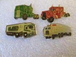 PIN'S  LOT 4  CAMION - Transport Und Verkehr