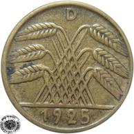 LaZooRo: Germany 5 Pfennig 1925 D XF - [ 3] 1918-1933 : República De Weimar