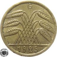 LaZooRo: Germany 5 Pfennig 1925 G XF  Error - [ 3] 1918-1933 : República De Weimar