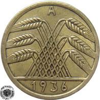 LaZooRo: Germany 5 Pfennig 1936 A XF - [ 3] 1918-1933 : República De Weimar