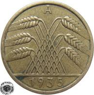 LaZooRo: Germany 10 Pfennig 1935 A XF - [ 3] 1918-1933 : República De Weimar