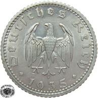 LaZooRo: Germany 50 Pfennig 1935 F XF - 50 Reichspfennig