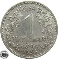 LaZooRo: Germany 1 Mark 1934 D XF - [ 4] 1933-1945 : Tercer Reich