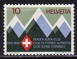 Switzerland, 1968, 50 Years Of The Club Of Mountain Climbers, 1 Stamp - Escalada
