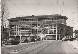 CPSM  SUISSE  SAINT-GALLEN SCHIBENERTOR AUTOS TRACTION COUPE MERCEDES - SG St. Gallen