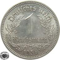 LaZooRo: Germany 1 Mark 1938 A XF / UNC - [ 4] 1933-1945 : Tercer Reich