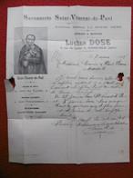 FACTURE ILLUSTREE SAVONNERIE SAINT VINCENT DE PAUL CIERGES BOUGIES LUCIEN DOSE A GRENOBLE 1898 - Frankreich