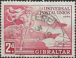 GIBRALTAR 1949 UPU - 2d - Red FU - Gibraltar