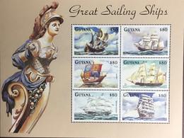 Guyana 1998 Sailing Ships Sheetlet MNH - Guyana (1966-...)