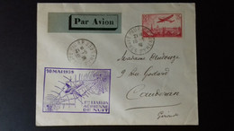 FRANCE PA 11   LETTRE 1ER LIAISON AERIENNE DE NUIT - 1927-1959 Briefe & Dokumente