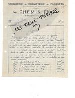 77 - Seine-et-marne - HERICY - Facture CHEMIN - Menuiserie, ébénisterie, Parquets - 1920 - REF 163C - 1900 – 1949