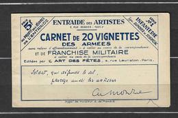 ⭐ France - Carnet - Franchise Militaire - Infanterie - Carnet De 20 Vignettes - ** Neuf Sans Charnière ⭐ - Militärpostmarken