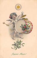 Anges - N°69432 - M.M. Vienne N°523 - Joyeuse Année - Ange Jouant De La Grosse Caisse - Engel