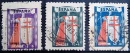 ESPAGNE                      N° 727/729                 OBLITERE - 1931-50 Gebraucht