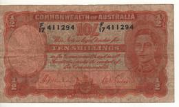 AUSTRALIA  10 Shillings  P25a    King George VI   ( ND 1939   Sign. Sheehan & McFarlane ) - 1938-52