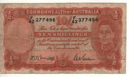 AUSTRALIA  10 Shillings  P25b    King George VI   ( ND 1939-52   Sign. Armitage & McFarlane ) - 1938-52