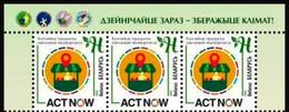Belarus 2020 Strip 3 V MNH Act Now Climate Action. Local Produce - Milieubescherming & Klimaat