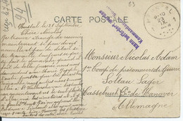 Prentkaart Van Herstal 1 Naar SOLTAU Met Kampcensuur - Weltkrieg 1914-18