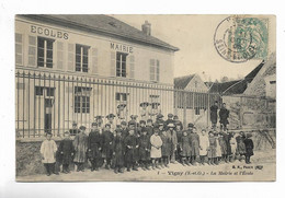 95 - VIGNY  ( S.-et-O. ) - La Mairie Et L' Ecole. . Carte Animée - Vigny