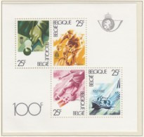 BELGIEN Block 52, Postfrisch **, Breitensport: Billard, Radfahren, Fußball, Segeln 1982 - Blocks & Kleinbögen 1962-....