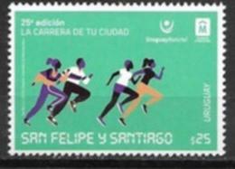 URUGUAY, 2019, MNH, SPORTS, RUNNING, YOUR CITY'S RACE, SAN FELIPE DE SANTIAGO, 1v - Altri
