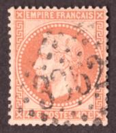 Napoléon III Lauré N° 31 Orange Terne - Oblitération GC 3352 Sedan (Ardennes) - 1863-1870 Napoleon III Gelauwerd