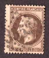 Napoléon III Lauré N° 30 Brun Foncé - Oblitération GC 3352 Sedan (Ardennes) - 1863-1870 Napoleon III Gelauwerd