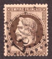 Napoléon III Lauré N° 30 Brun Foncé - Oblitération GC 3987 Tourcoing - 1863-1870 Napoléon III. Laure