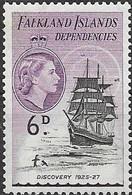 Falkland Islands Dependencies 1954 Ships - 6d. Discovery MNH - Falklandeilanden