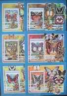 Central African Republic  1990   Butterflies  6 S/S  MNH - Butterflies