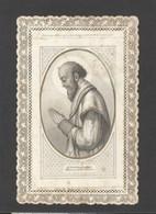 Themes Div-ref FF909- Image Religieuse -dentellle - 12x7,5cms -saint - St Francois De Sales - - Imágenes Religiosas