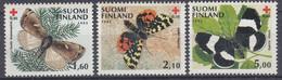 +M660. Finland 1992. Red Cross Charity. Butterflies. Michel 1169-71. MNH(**). - Ongebruikt