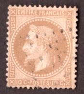 Napoléon III Lauré N° 28B Bistre Foncé - Oblitération Losange De Points - 1863-1870 Napoleon III Gelauwerd