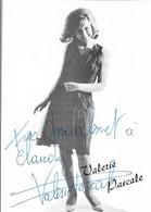 CHANTEUSE - VALERIE PASCALE - POUR VOS DISQUES :UNE CHAÎNE HAUTE FIDELITE-Carte Dédicacée-CPSM Grand Format Noir & Blanc - Singers & Musicians